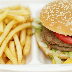 Healthy eating: burger and fries?